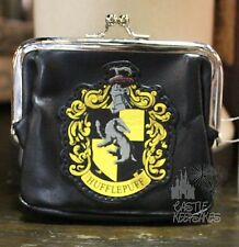 Wizarding World Of Harry Potter Hufflepuff Coin Purse Black Universal New