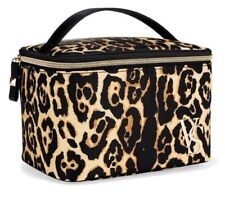 Victoria's Secret Travel Train Case  Cosmetic Bag Leopard New.