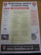 27/02/2007 Color teamsheet: Rotherham United v Swansea City [Negro rúbricas]. T
