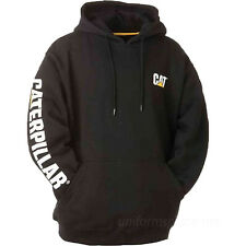 Caterpillar Sweatshirt Mens CAT Trademark Banner Hooded Pullover Fleece Jacket