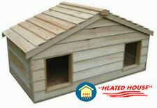LARGE DUPLEX HEATED INSULATED CEDAR CAT HOUSE SHELTER