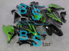 Black Green Fairings Kit Kawasaki Ninja ZX14R ZX-14R 07 08 09 10 2006-2011 28 A2