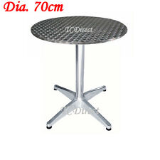 Outdoor Stainless Steel top, Aluminium Round 70cm Table for Cafe, Bar,Pub (YT1L)