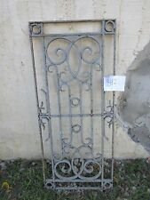 Antique Victorian Iron Gate Window Panel Fence Architectural Salvage #842