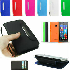 CUSTODIA CASE AD AGENDA SLIM A S-VIEW IN ECO PELLE PER NOKIA MICROSOFT LUMIA 532