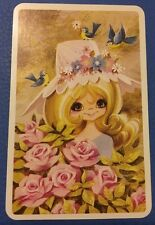 1970's B/Bs Cute Children Joy = 1 Playing Swap Cards   *A58