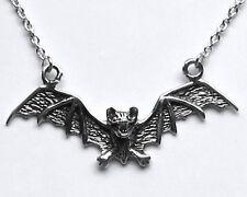 925 ECHT SILBER *** Gothic Collier Kette Vampir Fledermaus