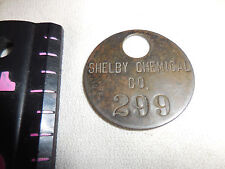 Shelby Chemical Company #299 Tag
