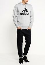 Adidas Sport Essentials Logo Hoodie Fleece - Grey - XL 46/48 Chest - RRP £50