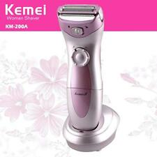 Ladies Electric Wet /Dry Shaver 3-Blade Cordless Women's Electric Razor Trimmer