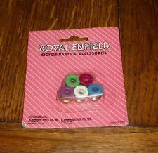 NOS Old School BMX Bicycle Crazy Painted Royal Enfield Chainring Bolts