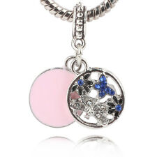 European Silver CZ Charm Beads Fit sterling 925 Necklace Bracelet Chain #A610