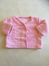 Baby Girls Clothes - Pink Tiny Baby Velour Jacket - Combine Postage & Save