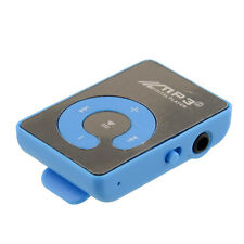 Mini Mirror Clip Mp3 Sport Music With TF-Card Suppot Up To 8GB Blue Hot