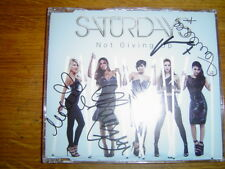 THE SATURDAYS - NOT GIVING UP 4 TRACK UK CD SINGLE SIGNED + offer