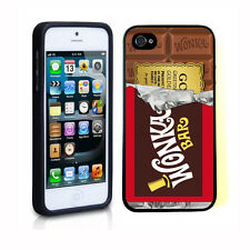 Willy Wonka Golden Ticket Chocolate Bar For TPU Soft iphone 4 4S Case Cover