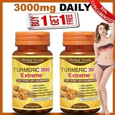 120 x TURMERIC CAPSULES 95% CURCUMINOID LONGA LINN 100% TUMERIC ANTIOXIDANT