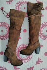 NIB! $395 FREEBIRD BY STEVEN 'BROCK' OTK SUEDE LEATHER BOOT WOMENS TAN 9M!