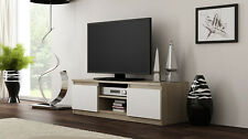 NEW SONOMA & WHITE Cabinet TV Unit RTV Entertainment Stand 120cm Modern DISP 24H