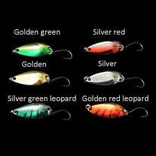 5pcs/lot 3g 58mm Spinner Spoon Fishing Lure Metal Lures Colorful Hard Baits  R