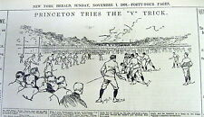 Best 1893 dipslay newspaper PRINCETON uses the FLYING WEDGE in college Football