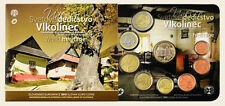 2015 slovakia bu set Vlkolínec 8 coins set 1 cent to 2 euro in folder and medal