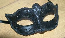 Da Uomo o Donna Midnight Black Veneziano Ballo In Maschera Carnevale Maschera Occhi Nuovo