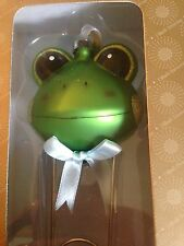 Dillard's Trimmings Baby's First Christmas Frog Safety Pin Rattle Ornament New