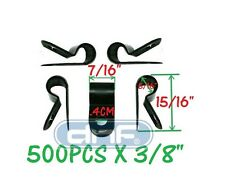 "(500 PACK) NYLON CABLE CLAMP 3/8"" BLACK - SHIPS FREE TODAY!"