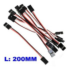 10x 20CM Male to Male JR Plug Servo Extension Lead Wire Cable 200mm