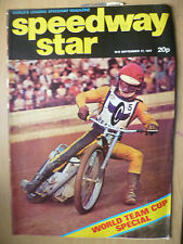 VINTAGE SPEEDWAY STAR MAGAZINE-WORLD TEAM CUP SPECIAL, No. 25, 17 SEPTEMBER 1977