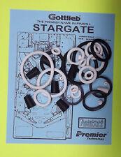 1995 Gottlieb Stargate pinball rubber ring kit