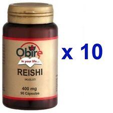 REISHI 400 Miligramos 900 Capsulas OBIRE ( 10 BOTES DE 90 CAPSULAS)