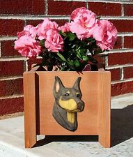 Doberman Pinscher Planter Flower Pot Red Tan