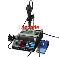 3-In-1 BGA Soldering Station Hot Air Preheat Rework Station YIHUA-853AAA 220V