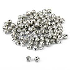 100pcs Antique Tibetan Silver Charms Spacer Beads DIY Jewelry Bracelet Findings