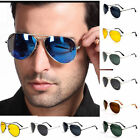 Full Mirror Sunglasses Silver Men Women Pilot Anti Glare RE#