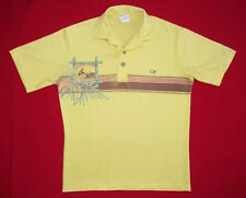 VINTAGE POLO SHIRT 70's Ocean Pacific SURFER TIKI STRIPE Surf Skate HIPPY OP