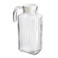 New Large 2 X 1.8L Kitchen Fridge Glass Pitcher Water Milk Juice Jug With Lid