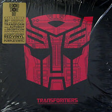 Transformers Original Soundtrack Deluxe 2 x LP Red + Purple + etch - New/Sealed