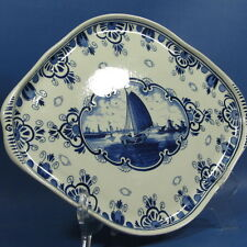 "f353: SAILING BOAT ON 16x11¾"" DELFT BLUE TRAY for BOLS by RAM"
