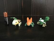 Generation 4 Pokemon plastic figure set of Turtwig Grotle Torterra 1-2 Inches