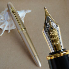 NOBLE JINHAO 159 GOLDEN 18KGP 0.7MM BROAD NIB FOUNTAIN PEN THICK