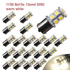 20 PCS Warm White 1156 LED RV Camper Trailer 1141 Interior Light Bulbs 13SMD 12V