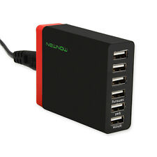 Multi Port USB Charger 6 Ports Adapter Travel Wall AC Power Supply UK Plug