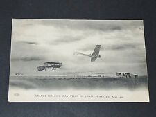 CPA 1909 AVIATION MONOPLAN BIPLAN AVIATEUR SEMAINE MEETING REIMS AEROPLANE