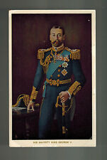 Mint RPPC Postcard King George V KGV Real Picture Portrait in Military Uniform