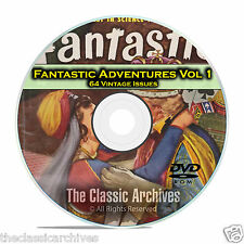 Fantastic Adventures, Vol 1, 64 Vintage Pulp Magazine Golden Age Fiction DVD C28