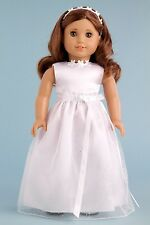 My First Communion - Clothes for American Girl Doll, Wedding Dress Headband Shoe