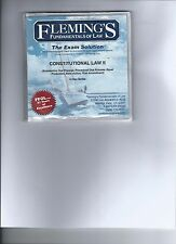 Fleming's Fundamentals of Law:  The Exam Solution - Con Law II CDs w/Outline